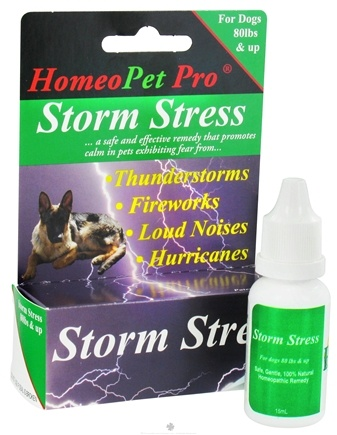 DROPPED: HomeoPet - Storm Stress For Dogs Up 80 lbs. & Up Liquid Drops - 15 ml. CLEARANCE PRICED