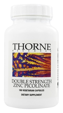 DROPPED: Thorne Research - Double Strength Zinc Picolinate 30 mg. - 180 Vegetarian Capsules