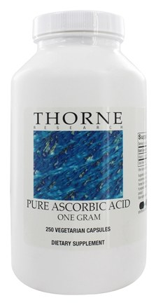 DROPPED: Thorne Research - Pure Ascorbic Acid 1 g. - 250 Vegetarian Capsules