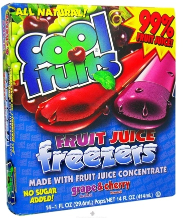 DROPPED: Cool Fruits - Cool Fruits Fruit Juice Freezers 14 Grape & Cherry Flavored Freeze Pops - 14 oz.