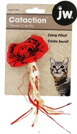 DROPPED: JW Pet Company - Canvas Catnip Crab Toy