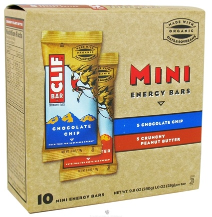 DROPPED: Clif Bar - Mini Energy Bars Variety Pack (Chocolate Chip, Crunchy Peanut Butter) - 10 Bars