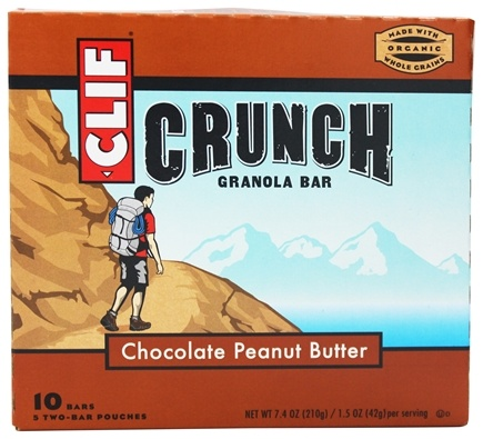 Clif Bar - Crunch Granola All Natural Chocolate Peanut Butter - 10 Bars