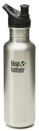 Klean Kanteen - Stainless Steel Water Bottle Classic with Sport Cap 3.0 Brushed Stainless - 27 oz.
