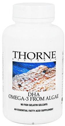 DROPPED: Thorne Research - DHA Omega-3 From Algae - 90 Gelcaps