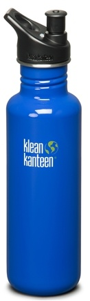DROPPED: Klean Kanteen - Stainless Steel Water Bottle Classic with Sport Cap 3.0 Ocean Blue - 27 oz. CLEARANCE PRICED