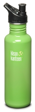 DROPPED: Klean Kanteen - Stainless Steel Water Bottle Classic with Sport Cap 2.0 Be Green - 27 oz. CLEARANCE PRICED