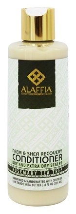 Alaffia - Neem & Shea Scalp Recovery Conditioner Rosemary Tea Tree Scent - 8 oz.