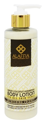 Alaffia - Virgin Coconut Hydrating Body Lotion Refreshing Coconut Scent - 8 oz.