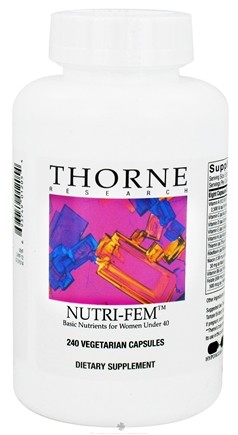 DROPPED: Thorne Research - Nutri-Fem Basic Nutrients for Women Under 40 - 240 Vegetarian Capsules