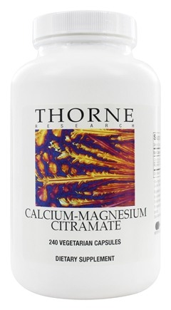 Thorne Research - Calcium-Magnesium Citramate - 240 Vegetarian Capsules