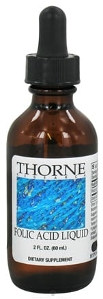 DROPPED: Thorne Research - Folic Acid Liquid 200 mcg. - 2 oz.