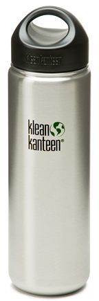 DROPPED: Klean Kanteen - Stainless Steel Water Bottle Wide with Stainless Loop Cap Brushed Stainless - 27 oz. CLEARANCE PRICED