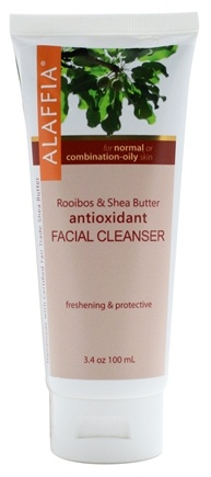 DROPPED: Alaffia - Facial Cleanser Antioxidant Rooibos & Shea Butter - 3.4 oz. CLEARANCE PRICED