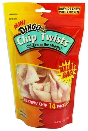 Dingo - Chicken In The Middle Chip Twists Mini 14-Pack - 3.18 oz.