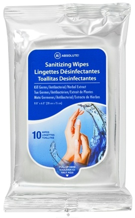 DROPPED: Nicka K Cosmetics - Absolute Sanitizing Wipes for Adults - 10 Wipe(s) CLEARANCE PRICED
