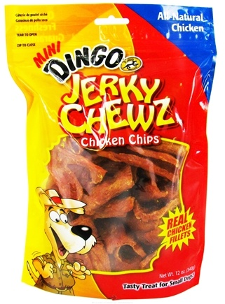 DROPPED: Dingo - Jerky Chewz Chicken Chips Mini Dog Treats - 12 oz.