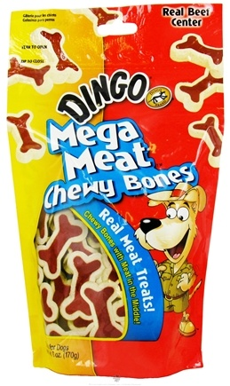 DROPPED: Dingo - Mega Meat Dog Treats Chewy Bones - 6 oz. CLEARANCE PRICED