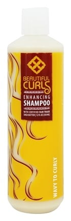Alaffia - Beautiful Curls Enhancing Shampoo for Wavy to Curly Hair - 12 oz.