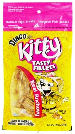 DROPPED: Dingo - Kitty Tasty Fillets Real Anchovy - 1 oz.