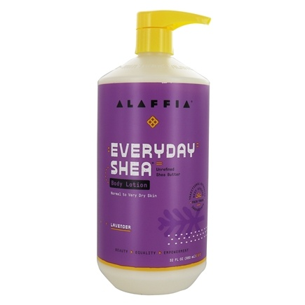 Alaffia - Everyday Shea Moisturizing Body Lotion Lavender - 32 oz.