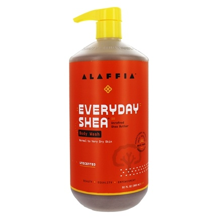 Alaffia - Everyday Shea Moisturizing Body Wash Unscented - 32 oz.