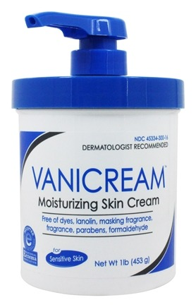 Vanicream - Moisturizing Skin Cream for Sensitive Skin with Pump Dispenser - 1 lb.