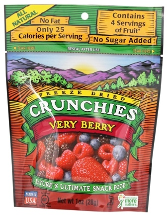 DROPPED: Crunchies - Freeze Dried Fruit Snack Very Berry - 1 oz.