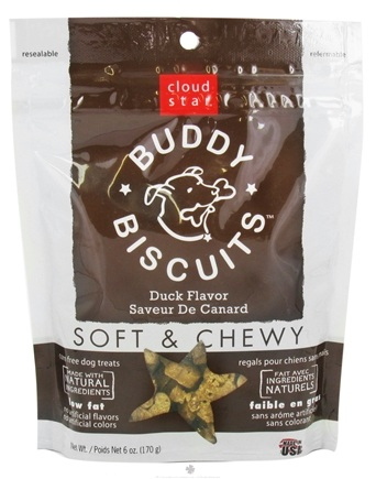 DROPPED: Cloud Star - Buddy Biscuits Soft & Chewy Dog Treats Duck - 6 oz.