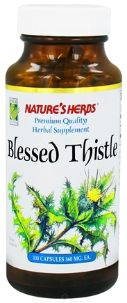 DROPPED: Nature's Herbs - Blessed Thistle 360 mg. - 100 Capsules CLEARANCE PRICED