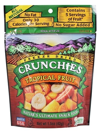 DROPPED: Crunchies - Freeze Dried Fruit Snack Tropical Fruit - 1.5 oz.