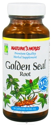DROPPED: Nature's Herbs - Golden Seal Root 535 mg. - 50 Capsules CLEARANCE PRICED