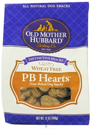 DROPPED: Old Mother Hubbard - PB Hearts Dog Treats - 12 oz. CLEARANCE PRICED