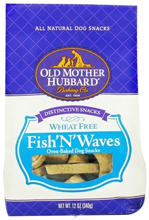 DROPPED: Old Mother Hubbard - Fish'N'Waves Dog Treats - 12 oz. CLEARANCE PRICED