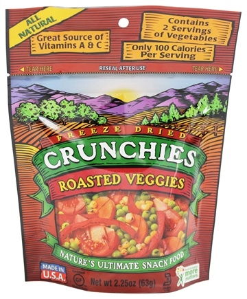 DROPPED: Crunchies - Freeze Dried Vegetable Snack Roasted Veggies - 2.25 oz.