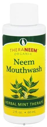 DROPPED: Organix South - TheraNeem Neem Mouthwash Herbal Mint - 2 oz. CLEARANCE PRICED