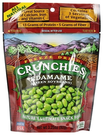 DROPPED: Crunchies - Freeze Dried Vegetable Snack Edamame - 3.25 oz.