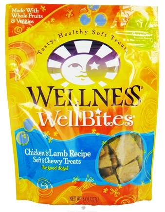 DROPPED: Wellness Pet - WellBites Soft & Chewy Dog Treats Chicken & Lamb Recipe - 8 oz. CLEARANCE PRICED