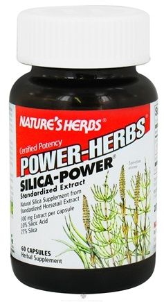DROPPED: Nature's Herbs - Power Herb Silica 300 mg. - 60 Capsules CLEARANCE PRICED