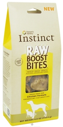 DROPPED: Nature's Variety - Instinct Raw Boost Bites Freeze Dried Treats Chicken Formula - 4 oz. Formerly Freeze Dried Minis, CLEARANCE PRICED