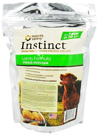 DROPPED: Nature's Variety - Instinct Freeze Dried Raw Medallions Lamb Formula - 7 oz.
