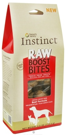 DROPPED: Nature's Variety - Instinct Raw Boost Bites Freeze Dried Treats Beef Formula - 4 oz. CLEARANCE PRICED
