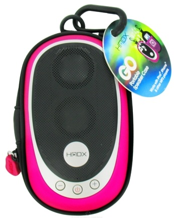 DROPPED: HoMedics - HMDX Go Portable Speaker Case HX-GO3PKA Pink - CLEARANCE PRICED