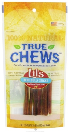 DROPPED: True Chews - Lils Beef Bully Sticks For Dogs 6 Pack - 6 in. CLEARANCE PRICED