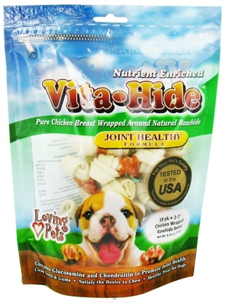 DROPPED: Loving Pets - Vita-Hide Joint Healthy Rawhide Dog Treats 2 in. - 18 Pack CLEARANCE PRICED