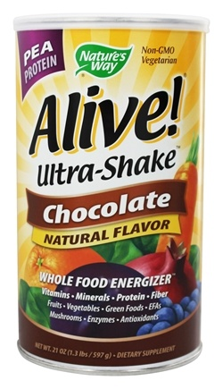 Nature's Way - Alive Pea Protein Ultra-Shake Whole Food Energizer Chocolate - 21 oz.