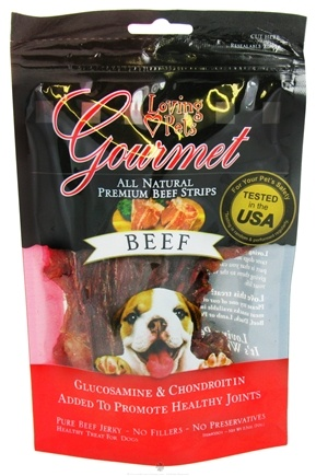 DROPPED: Loving Pets - Gourmet Meat Treats To Promote Healthy Joints For Dogs Beef - 2.5 oz.