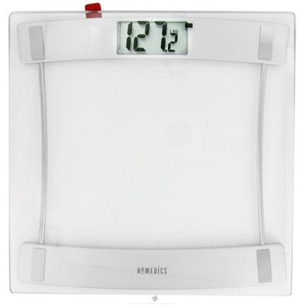 DROPPED: HoMedics - 405 Digital Scale Glass & Silver 11.25 in. x 11.25 in. SC-405
