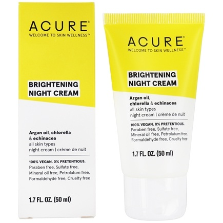 ACURE - Night Cream Argan Stem Cell + 2% Chlorella Growth Factor - 1.75 oz.