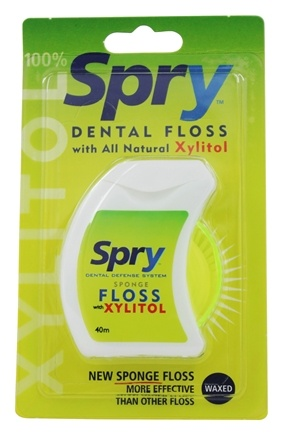 Xlear - Spry Dental Floss With All Natural Xylitol - 40 Meter(s)